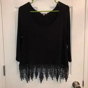 Charlotte Russe size large dressy top like new